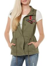 NUOVO Only Giacca Gilet Donna onlSALLY DISTINTIVO TELA WAI VERDE SCURO GREEN