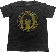 THE ROLLING STONES Keith Richards For President VINTAGE T-SHIRT OFFICIAL MERCH