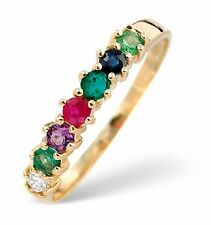 ANELLO ETERNITY GEMMA Multicolore Dearest oro giallo con diamante