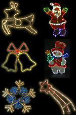 christmas rope light xmas decoration indoor outdoor santa snowman reindeer sign