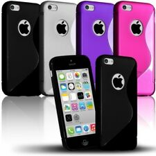 Housse Etui Coque S-Line pour Apple iPhone 5C + Film de Protection
