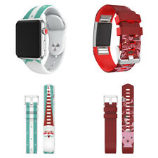 Sports Christmas Elderly Silicone Bracelet Strap Band For Fitbit Charge 2 NEW