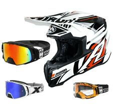 AIROH CASCO CROSS Twist Casco Motocross avanger Blanco two-x Cohete Gafas Cross