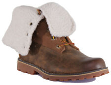 """Timberland A1BXZ Youth Nubuck Leather 6"""" Brown Shearling Boots"""