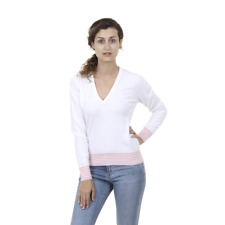 Fred Perry 31412210 0033 Jersey para mujer Blanco ES