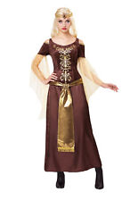 Ladies Medieval Lady Costume Middle Dark Ages Fancy Dress Outfit