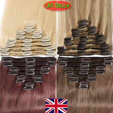 Brown Blonde Red Clip In Hair Extension Hair Piece curly wavy straight long