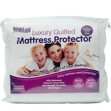 """Luxury Quilted Hypoallergenic Mattress Topper Protector Fitted Extra Deep 13"""""""