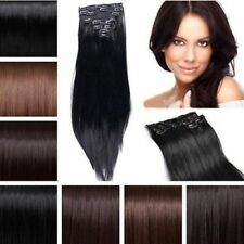 18 inch Full Head Silky Straight Extensions human feel synthetic Hair Extension