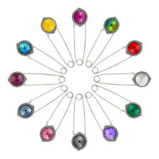 Sterling Silver Rivoli Brooch made with 1122 12mm Swarovski® Crystals