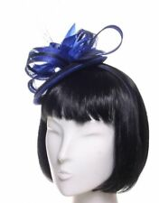 McBURN FANTASIA Fascinator blu indaco accessorio per capelli Cerchiello party
