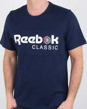 Reebok Classic Franchise Iconic T Shirt in Navy Blue - short sleeve cotton tee