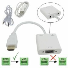 1080P HDMI Male to VGA Female Video Converter Adapter + USB Power Audio Output