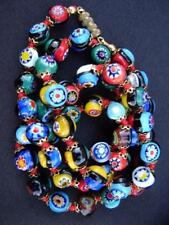 Vintage Venetian Millefiori Murano Glass Bead Necklace 23""