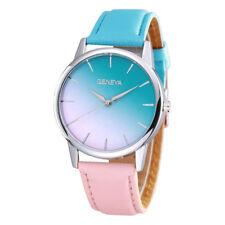 Geneva Blue to Pink Colour Fading Womens Watch Ladies Wristwatch Gift UK Seller