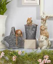 Antique Bunny Collection Rabbit Rustic Country Seasonal Easter Spring Home Decor