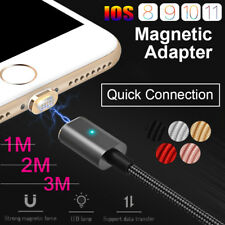 1M2M3M Magnetic Adapter Charger USB Fast Charging Cable For iPhone 8 7 6S Plus 5