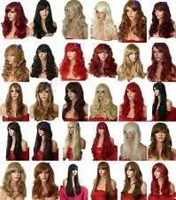 Realistic Heat Resistant Synthetic Hair Full Wig Ombre Hair Costume Brown Blonde