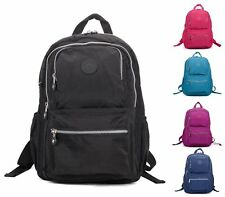 LADIES RUCKSACK RETRO OXFORD NYLON ZIP POUCH TRAVEL BACKPACK SCHOOL SHOULDER BAG