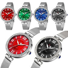 Women's Luxury Rhinestone Wrist Watch Stainless Steel Quartz Analog Wristwatches