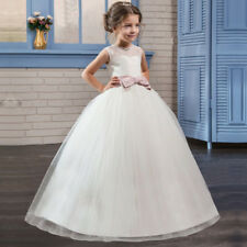 Brand New White Wedding Girls Dress Tulle Princess Bridesmaid Party Kids Clothes