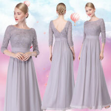 Ever-Pretty Gray Prom Dresses Long Lace Ladies Formal Evening Party Gowns 08412
