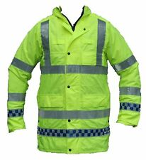 Ex Police Hi Viz Waterproof Jacket Long Coat Security Events Traffic Grade A