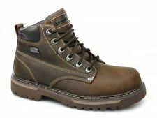 Skechers COOL CAT BULLY II Hommes Bottes Cuir Huileux Confortables Mode Marron