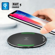 For Apple iPhone X 10 8 Plus+QI Wireless Fast Charger Charging Pad Mat Metal