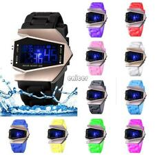 Niños Chilid Kids Boy Girl Unisex LED reloj de pulsera digital con luz ENE