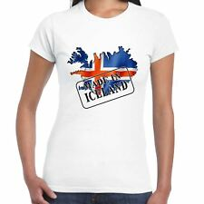 Made in Iceland - Flag and map - Ladies T Shirt - Country, Gift, Tee