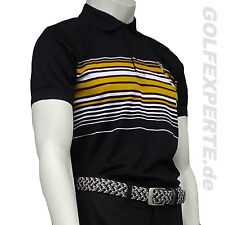 Wilson Golf Polo Uomo Performance a righe Polo Black Orange