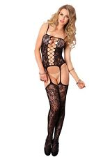 Leg Avenue Floral Suspender Bodystocking