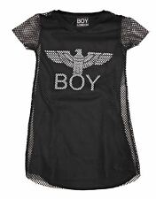 BOY LONDON Vestito Bambina VSBL181110J Nero Abito Primavera/Estate