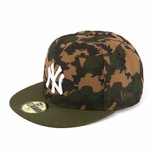new era Camo TEAM NEW YORK YANKEES NY 59fifty Gorra Ajustada, CAMUFLAJE, 93536