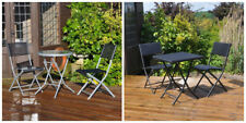 Cafe Bistro Set Patio Indoor Outdoor Rattan Garden Furniture Table and Chairs