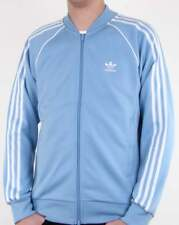 Adidas Originals Superstar Track Top in Sky Blue - retro tracksuit jacket
