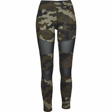 Urban Classics Ladies Camo Tech Mesh Leggings Streetwear Pantalone Donna
