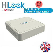 HiWatch by Hikvision UK NVR 4 Ch 2MP 4 POE IP Video CCTV Recorder NVR-104-A/4P