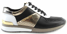 MICHAEL KORS Zapato Mujer Sneakers Allie Trainer Lasered 43R8ALFS4L Blk PaleGold
