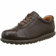Camper Pelotas Ariel 27205 Dark Brown Womens Leather Lace Up Trainers