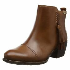 Pikolinos Baqueira W9H-8941 Cuero Womens Leather ZipTassel Mid Heel Ankle Boots