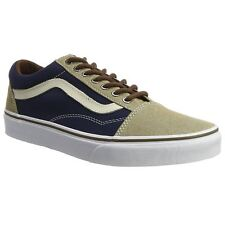 Vans Old Skool Dress Blues Khaki Mens Canvas Lace-up Skate Trainers Shoes