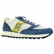 Saucony Jazz Original Vintage S70368-12 Blue Yellow Mens Suede Running Trainers