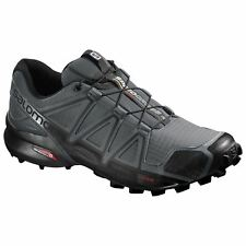 Salomon Speedcross 4 Dark Could Black Mens Mesh Low-Top Trail Hiking Shoes