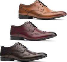 Base London PURCELL Mens Washed Leather Smart Office Formal Lace Up Brogue Shoes