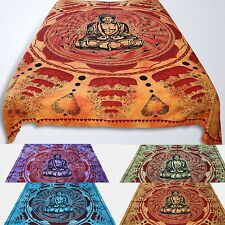 Colcha Edredón Lotus Buda Paño Decorativo Batik India Hippie cotinado Pared Om