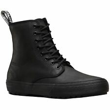 Dr.Martens Winsted 8-Eyelet Black Womens Greasy Lamper Ankle Lace-Up Boots