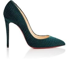 Christian Louboutin Pigalle Follies 100 Velvet Pumps Heels Shoes Green $745