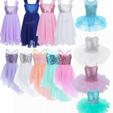 Girls Ballet Dancewear Leotard Kids Tutu Dress Toddler Skate Skirts Dance Dress